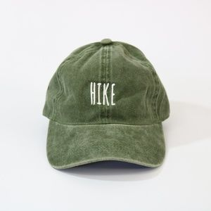 HIKE - Olive Green Baseball Hat Cap Unisex